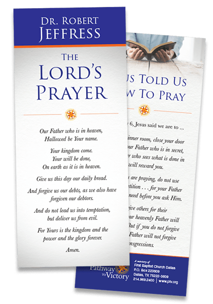 the lord s prayer encouragement card from dr robert jeffress