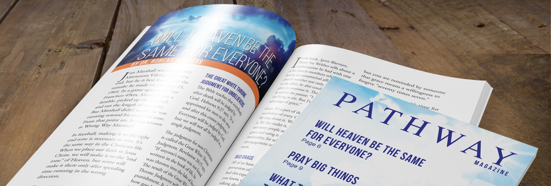 Sign up to receive Pathway Magazine - Pathway to Victory